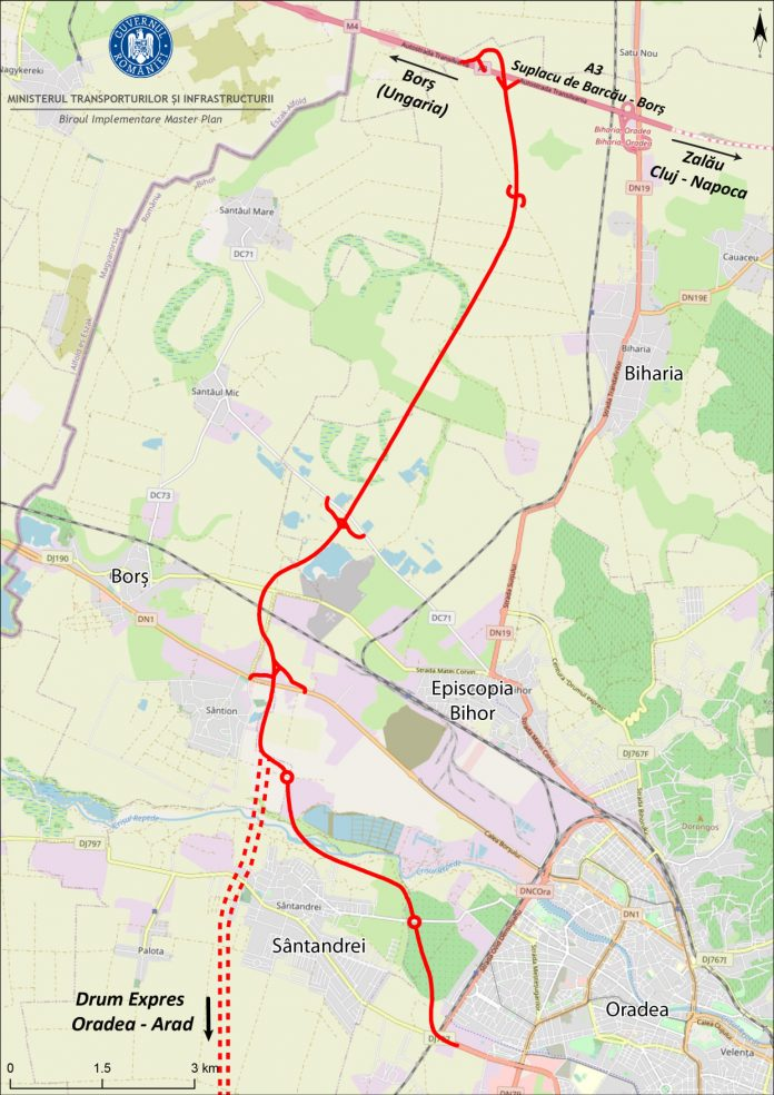 Drumul dintre centura Oradea si A3 ar putea fi gata in 2023